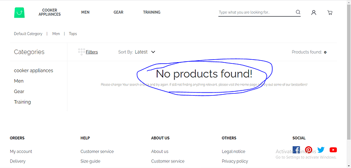 no products
